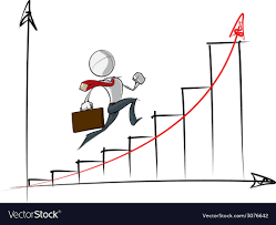 Exponential Growth Chart Simple Business People Exponential Growth Chart