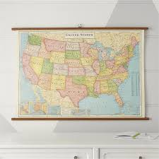 Vintage United States Of America Chart Wall Decor