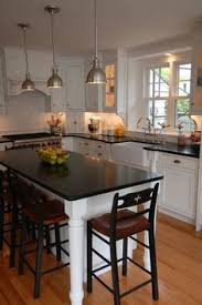 Sink and stove location - with Island and lamps - perfect!