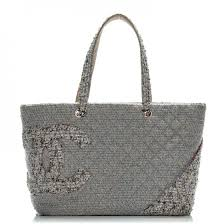 CHANEL Tweed Quilted Large Cambon Tote Grey 199888 &  Adamdwight.com