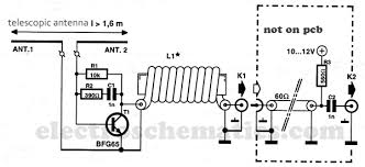 vhf active antenna active antenna circuit diagram active antenna