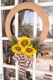burlap diy sunflower wreath darice 9