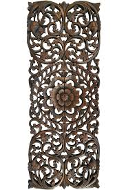 metal wall decor india wood carved wall new fl tropical carved wood wall panel wall art