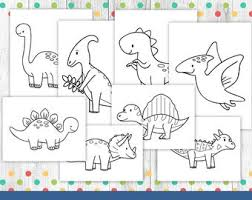 If you like what you see please do share this page with your friends and family! Dinosaur Coloring Etsy