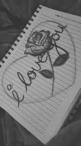 I Love You Lettering Rose Heart Art Tekening Art Sketches With I