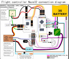flight controller naze connection diagram diy quadcopter flight controller naze32 connection diagram