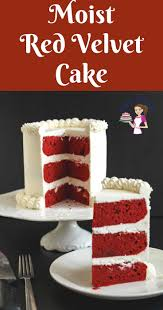 a pinterest optimized image for a classic red velvet cake with cream cheese frosting simple red velvet texture n49 texture