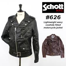 shot schott lightweight waxy cowhide fitted motorcycle jacket courser lightweight double leather riders jacket mens