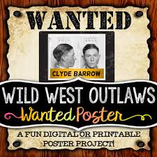 Wild West Outlaw Project Wanted Poster Digital And Printable Options