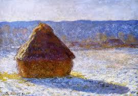 claude monet 1840 1926 haystack morning snow effect meule effet