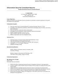 Information Security Resume Sample Information Security Consultant