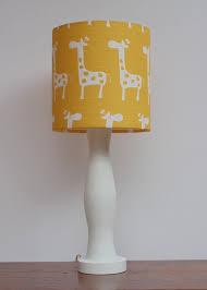 small giraffe drum lamp shade yellow with white giraffes regard to baby lamps decor 11