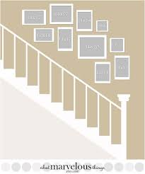 Small Picture Wall Display Templates Uppercross Lane Stair gallery wall