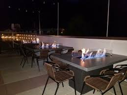 restaurant table top lighting. Loco Burro Gatlinburg, TN Roof Top Restaurant Fire-pit Tables Table Lighting O
