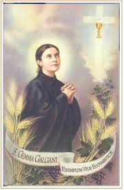 Her mother's medical bills had a drastic effect on her father's finances; Saint Gemma Galgani Prayer Group Sacred Heart And Our Lady Of Pompeii Dobbs Ferry Ny