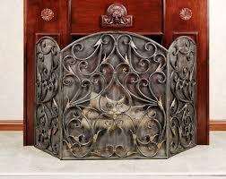 decorative fireplace screens wrought iron