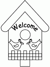 Small Picture Welcome To Bird House Coloring Pages Best Place To Color