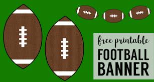 Cheap Super Bowl Decorations Cheap Super Bowl Decorations Football Banner Paper Trail Design 5