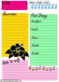 29 Images Of Daily Food And Exercise Journal Template Leseriail Com