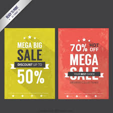 Pictures Of Flyers Sale Flyers In Vintage Style Vector Free Download
