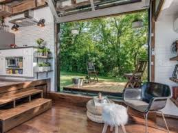 tiny house with garage. Tiny House With A Glass Garage Door