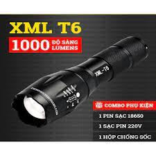 Đèn pin siêu sáng có 5 chế độ chiếu xa trăm mét T6