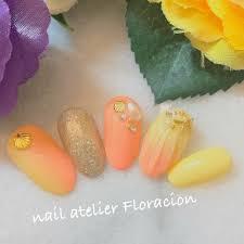 夏海リゾートパーティーハンド Nail Atelier Floracionのネイル
