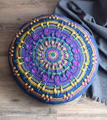 Free Crochet Mandala Pattern Fascinating Peacock Tail Mandala Pillow FREE Crochet Pattern LillaBjörn's