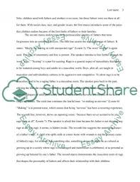 how do we forgive our fathers poem essay example topics and   text preview