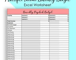 Monthly Budget Template Annual Budget Spreadsheet Simple