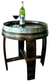whiskey barrel end table barrel end table barrel end table alpine wine design banded side with