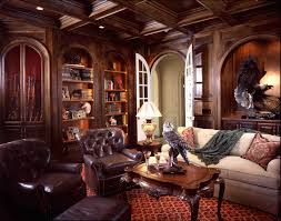 Traditional Interior Design Interior Design Luxury Brown Theme Modern Traditional Home Library
