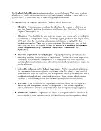 Resume For Graduate School Grad School Resume Examples Examples Of Resumes Of Resume For 17