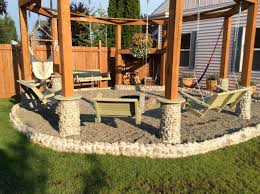Fire Pit Swing Tutorial Build An Amazing Diy Pergola And Firepit With Swings
