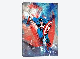 marvel comics captain america running painted marvel comics throughout marvel canvas wall art image on marvel spiderman canvas wall art 4 piece with 15 best marvel canvas wall art wall art ideas