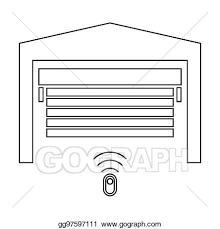 garage door the black color icon