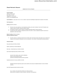 Diesel Mechanic Resumes Resume Examples Diesel Mechanic Diesel Examples Mechanic Resume
