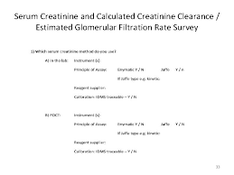 serum creatinine and e gfr where are we