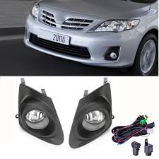 Details About Fits 2011 2013 Toyota Corolla Clear Bumper Fog Lights Lamps Cover Switch Wiring