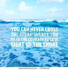 Waves Quotes Awesome Inspirational Quote On Scenic Summer Blue Stock Photo Edit Now