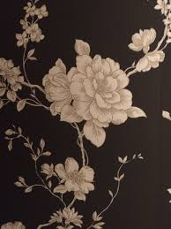 Black / gold / cream wallpaper. From ...