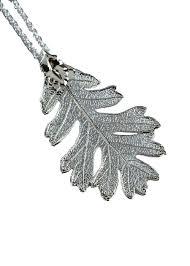 silver oak leaf pendant