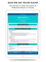 Professional Resume Builder My Resume Builder Cv Maker App Price Drops