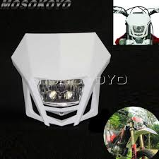 Enduro Lights Us 14 61 5 Off Motocross White Dirt Bike Racing Enduro Headlight Off Road Head Lights For Kawasaki Klx 150 Yamaha Wr250 Honda Crf 450 Ktm On