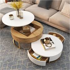round coffee tabel natural bent birch wood painted plywood 1 round table and 4 ottomanfocus on real wood for 10 years w