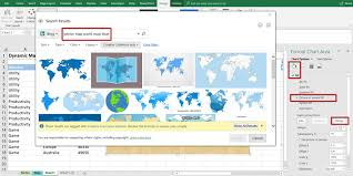 Add Map Chart To Excel 2016 Simple Excel Dynamic Map Chart With Drop Down