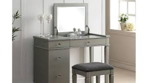 Bedroom Vanity Set At In Silver With Lights Table Lighted Mirror ...