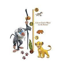 Interactive Growth Chart Buy Roommates The Lion King Rafiki Peel And Stick Giant