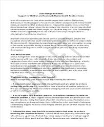 crisis management plan example crisis management plan templates 9 free word pdf format download