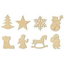 Holz Anhänger Weihnachten 8er Set 100465 Laubsäge